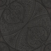 Eijffinger 341757-Yasamin Black Mehndi Medallion wallpaper