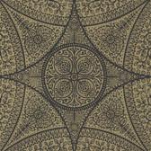Eijffinger 341759-Yasamin Brass Mehndi Medallion wallpaper