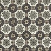 Eijffinger 341773-Marqueterie Pewter Mosaic Geometric wallpaper