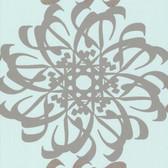 Eijffinger 341781-Hazar Afsan Aquamarine Modern Medallion wallpaper