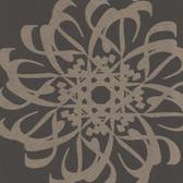 Eijffinger 341782-Hazar Afsan Espresso Modern Medallion wallpaper