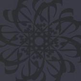 Eijffinger 341783-Hazar Afsan Black Modern Medallion wallpaper