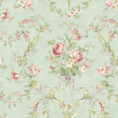 291-70204-Sage Floral Bouquet wallpaper