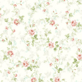 291-70603-Light Blue Mid Floral Trail wallpaper