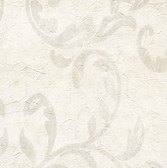 WD3002-Plume Cream Modern Scroll Wallpaper