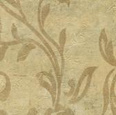 WD3069-Plume Gold Modern Scroll Wallpaper