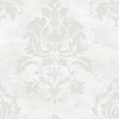 VIR98203 - Asha Pearl Lotus Damask Wallpaper