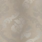 VIR98225 - Delilah Brown Tulip Damask Wallpaper