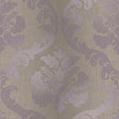VIR98227 - Delilah Purple Tulip Damask Wallpaper
