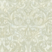VIR98251 - Amity Champagne Bleeding Heart Scroll Wallpaper