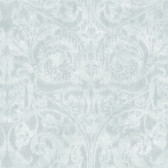 VIR98252 - Amity Olive Bleeding Heart Scroll Wallpaper