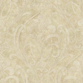 VIR98263 - Zoe Sand Coco Damask Wallpaper