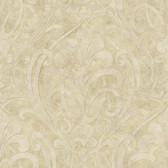 VIR98263 - Zoe Sand Coco Damask Wallpaper