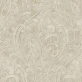 VIR98267 - Zoe Champagne Coco Damask Wallpaper