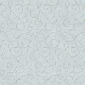 VIR98274 - Shin Blue Golden Scroll Texture Wallpaper