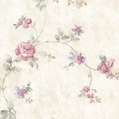 992-44420-Mary Pink Floral Vine wallpaper
