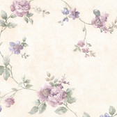 992-44421-Mary Purple Floral Vine wallpaper