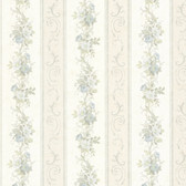 992-68301-Lorelai Light Blue Floral Stripe wallpaper