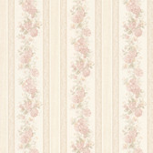 992-68315-Tasha Blush Satin Floral Scroll Stripe wallpaper