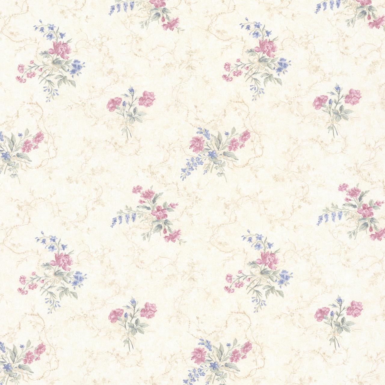 992 68340 Marie Pink Delicate Floral Bouquet Wallpaper