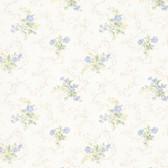 992-68341-Marie Light Blue Delicate Floral Bouquet wallpaper