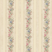992-68351-Alexis Beige Satin Floral Stripe wallpaper
