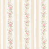 992-68352-Alexis Pink Satin Floral Stripe wallpaper