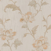 Gemma Embroidered Jacobean Floral Fire Wallpaper 2537-M3921