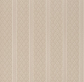 Ercole Brocade Stripe Sepia Wallpaper 2537-M3937