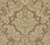 Agnese Embossed Damask Mocha Wallpaper 2537-M3959
