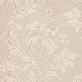 Vitale Embossed Leafy Scroll Sepia Wallpaper 2537-M3965