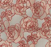 Sancia Linen Rosette Weave Crimson Wallpaper 2537-Z3614