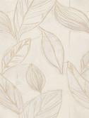 Rosalba Satin Leaf Linen Wallpaper 2537-Z3624