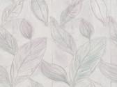 Rosalba Satin Leaf Heather Wallpaper 2537-Z3626