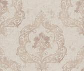 Luca Crushed Velvet Damask Cedar Wallpaper 2537-Z3673