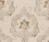 Luca Crushed Velvet Damask Linen Wallpaper 2537-Z3679