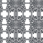 EK4145 - Ronald Redding 18 Karat II The Plaza Black & White Wallpaper