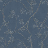 EK4182 - Ronald Redding 18 Karat II Branchly Blue Wallpaper