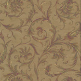 RR5821- Ronald Redding 18 Karat II Wellington Golden Brown Wallpaper