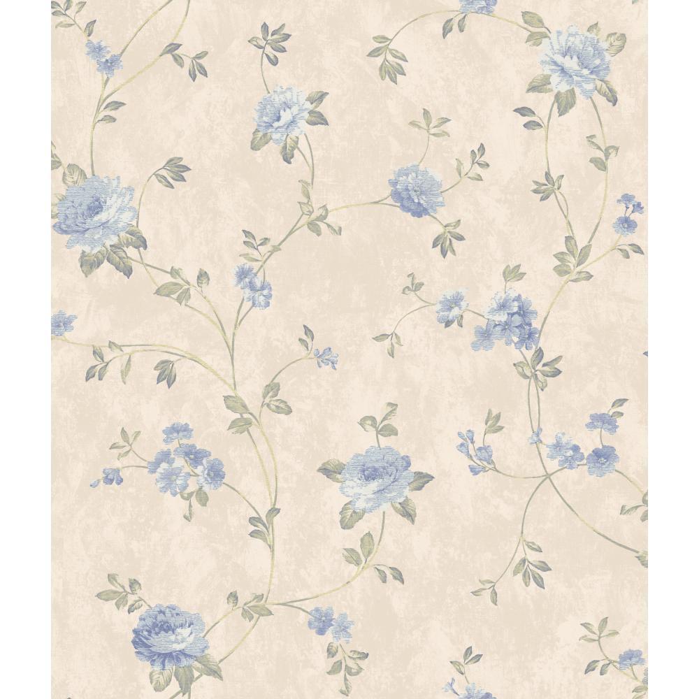 Ar7726 Charleston Ii Floral Vine Pearlescent Wallpaper