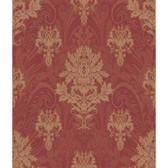 AR7735 - Charleston II Damask Paisley Metallic Wallpaper in Red and Cream