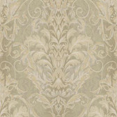 AR7753 - Charleston II Ombre Damask Stripe Raised Prints Wallpaper in Grey, Taupe, and Cream