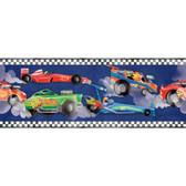 ZB3223BD Boys Will Be Boys Race Car Border