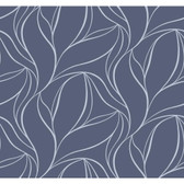 Silver Leaf II Aubrey Denim Wallpaper SL5696