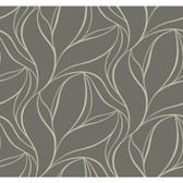 Silver Leaf II Aubrey Pebble Wallpaper SL5699