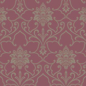 Silver Leaf II Sheffield Mulberry Wallpaper SL5704