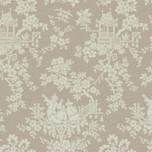 Sculptured Surfaces Teahouse Toile Walnut Wallpaper RD3574