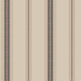Houndstooth Oxford Stripe Mauve-Dark Gray Wallpaper ML1257