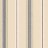 Houndstooth Oxford Stripe Peach-Navy Blue Wallpaper ML1258