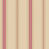 Houndstooth Oxford Stripe Tan-Red Wallpaper ML1259